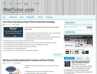 inettutor.com screenshot
