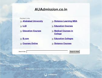 Thumbshot of Auadmission.co.in