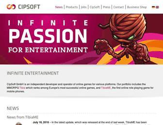 cipsoft.com screenshot
