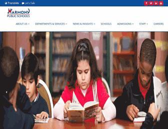 Main page screenshot of harmonytx.org