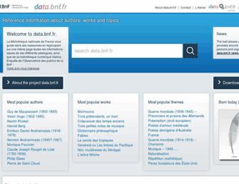 data.bnf.fr screenshot
