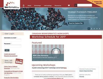 Main page screenshot of bioinformatics.ca