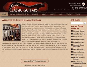 garysguitars.com screenshot