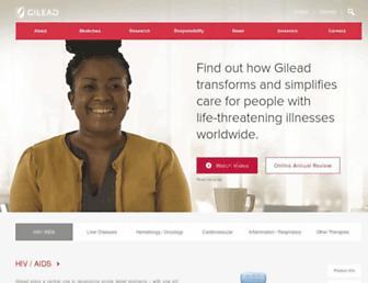 gilead.com screenshot