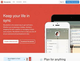 Thumbshot of Wunderlist.com