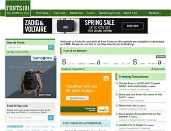fonts101.com screenshot