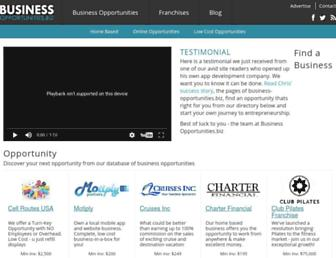 Main page screenshot of franchise.business-opportunities.biz
