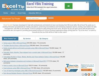 exceltip.com screenshot