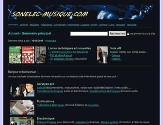 sonelec-musique.com screenshot