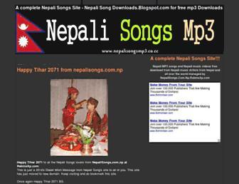 nepalisongs.com.np.rabinsxp.com screenshot