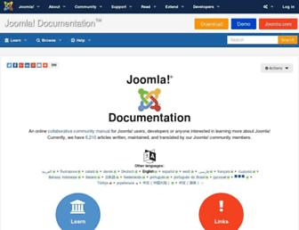 docs.joomla.org screenshot