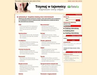 Main page screenshot of webwweb.pl