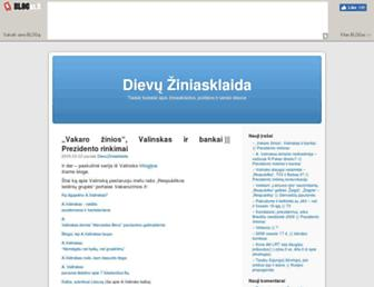 Main page screenshot of dievuziniasklaida.blogas.lt