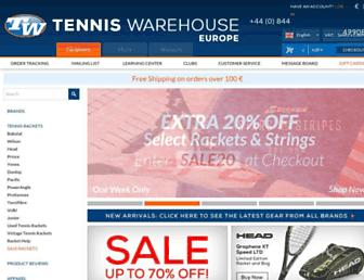 tenniswarehouse-europe.com screenshot