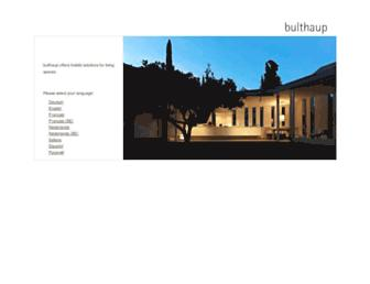 bulthaup.com screenshot