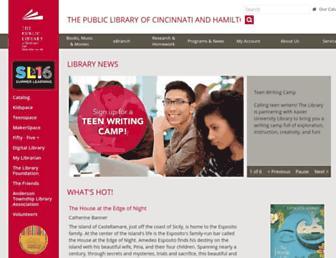 Thumbshot of Cincinnatilibrary.org