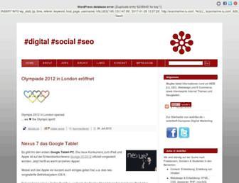 Main page screenshot of blog.weblike.de