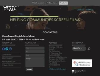 cinemaforall.org.uk screenshot