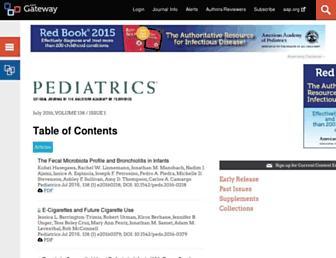 pediatrics.aappublications.org screenshot
