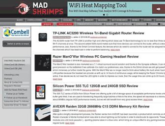 Main page screenshot of madshrimps.be
