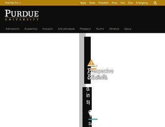 Main page screenshot of purdue.edu