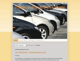 cahayacarrental.blogspot.com screenshot