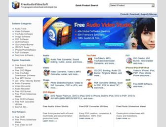 freeaudiovideosoft.com screenshot