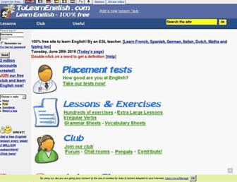 tolearnenglish.com screenshot