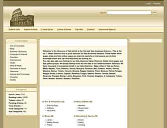 Main page screenshot of italywebdirectory.net