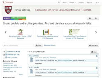 dataverse.harvard.edu screenshot