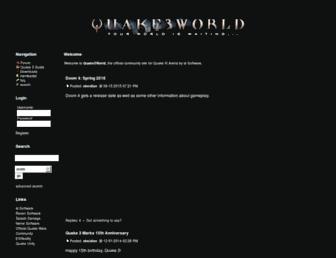 quake3world.com screenshot