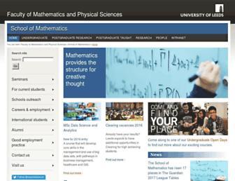 www1.maths.leeds.ac.uk screenshot