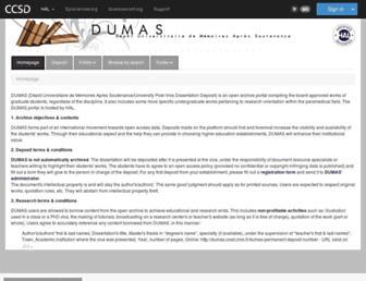 dumas.ccsd.cnrs.fr screenshot