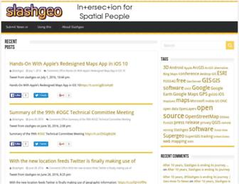 slashgeo.org screenshot