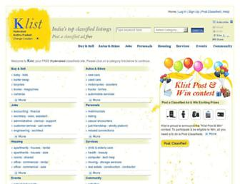hyderabad.klist.com screenshot