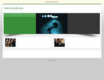 index-of-mp3x.com screenshot
