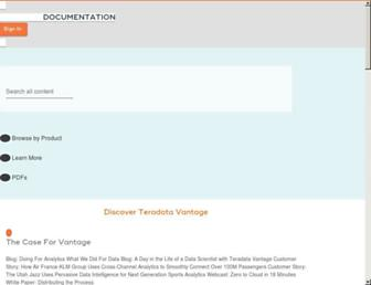 docs.teradata.com screenshot