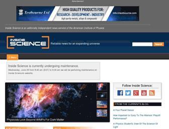 insidescience.org screenshot