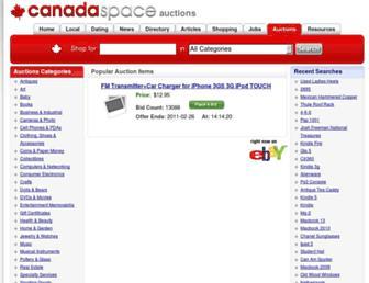 auctions.canadaspace.com screenshot