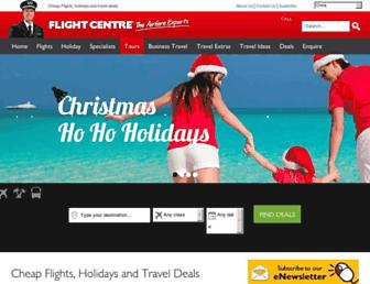 Main page screenshot of flightcentre.com.cn
