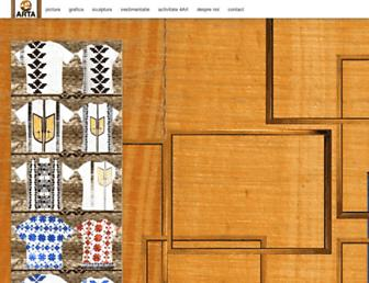 Main page screenshot of earta.ro