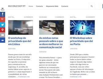 Main page screenshot of ruicruz.pt