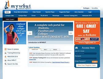 mywbut.com screenshot