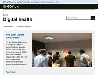digitalhealth.blog.gov.uk screenshot