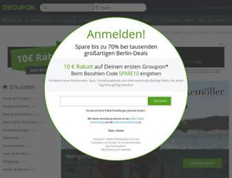 Main page screenshot of citydeal.de