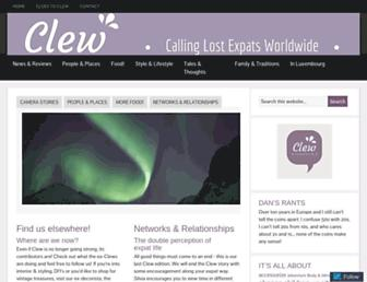 Main page screenshot of clew.lu