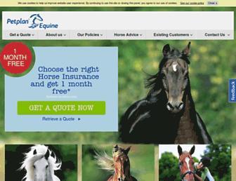 petplanequine.co.uk screenshot
