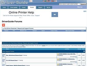 forums.driverguide.com screenshot