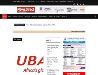 nigeriannewsdirect.com screenshot