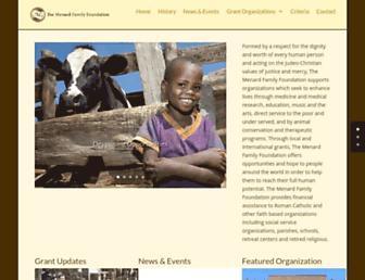 Main page screenshot of menardfoundation.org